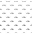 croissant pattern seamless vector image vector image
