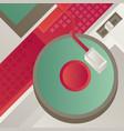 designed modern dj music banner vector image vector image