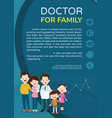 doctor and family background poster portrait vector image vector image