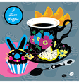 Elegant Cup of Coffee Card vector image vector image