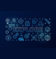 explore blue modern colored horizontal vector image vector image