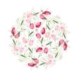 Floral spring template with cute bunches of tulips vector image vector image