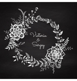 Floral wreath vector image vector image