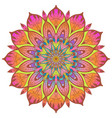 flower color mandala vector image vector image