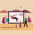 gaming addiction health disorder concept vector image vector image