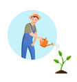 gardener man on white background vector image