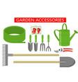 gardening work tools flat icons set gardening vector image vector image