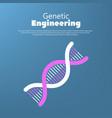 genetic engineering concept human code vector image