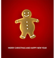 gingerbread man christmas background vector image