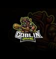 goblin mascot sport logo design vector image vector image