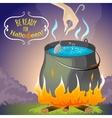 Halloween background melting pot eps10 vector image vector image