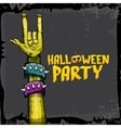 Halloween rock n roll zombie background vector image vector image