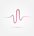 Heart beat cardiogram medical icon vector image