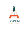 ia modern logo design with orange and green color vector image vector image