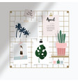 iron mesh mood board mockup artistic vector image