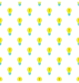 Light bulb idea pattern cartoon style vector image vector image