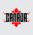 made in canada label or t-shirt print original vector image vector image