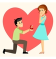 Man makes marriage proposal vector image
