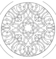 Mandala Ball flower coloring for adults vector image vector image