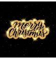 Merry Christmas lettering on greeting card vector image vector image