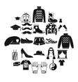 mustache icons set cartoon style vector image vector image