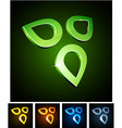 Nature vibrant emblems vector image vector image