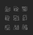 office supplies and technical equipment chalk vector image vector image