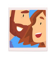 portrait loving man and woman looking at each vector image vector image