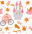 princess seamless pattern for textile vector image vector image