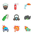 protest icons set cartoon style vector image vector image