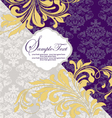purple and gray invitation card vector image vector image