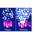 Purple and pink Happy Birthday gifts vector image vector image