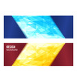 red and blue horizontal banner with bright vector image vector image