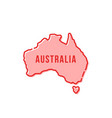 red simple thin line australia cartoon icon vector image