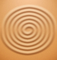 Ripple spiral drawing on the sand vector image vector image