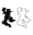 sacramento city map vector image vector image