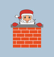 santa claus in the chimney vector image