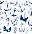 sea anchors seamless pattern different vector image
