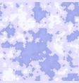 seamless digital arctic pixel camo texture vector image vector image