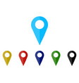 set colorful map pointer location pin icon marker vector image vector image