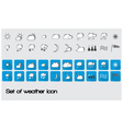 set of weather icon vector image vector image