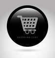 shopping cart design vector image vector image