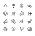 simple icon set ecology and nature care vector image vector image