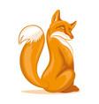 sly orange fox vector image vector image