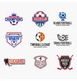 sports logo badges 2 vector image vector image