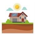 Sun solar energy house vector image vector image