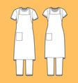 T-shirt apron and pants set vector image vector image