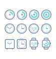 timers set variety clock icons vector image vector image