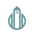tower housing simple graphic vector image vector image