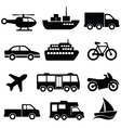 Transport collection set vector image vector image
